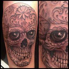 c8b44d36d Living dead skull. Black Widow Tattoo.   Tattoos   Pinterest   Black .