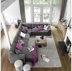Bank met longchair Pronto wonen model Barletta Couch, Living Room, Interior Design, Jamaica, Trees, Furniture, Decoration, Home Decor, Architecture
