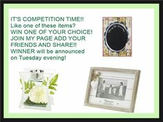 #competition join in today for your chance to win and pick ur own prize!! All you have to do is follow my page and share it!! Get involved on Facebook too to double ur chances!! https://www.facebook.com/groups/BeckysBargainLovers/ #prizes #homedecor #simples #chalkboard #tealight #pictureframe #getinvolved #promotion #followandshare #winner