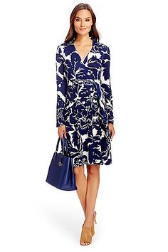 T72 Silk Jersey Wrap Dress in in Giant Floral Solid Midnight