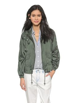 Free People parachute jacket: Actually flattering and not so boxy.