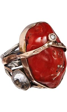 Sandra Dini Red Coral Ring