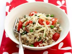 Mince, parmesan and pea risotto