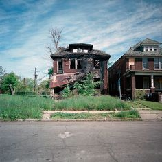 Part of a series of 100 abandoned houses in Detroit, Michigan.