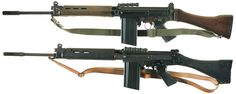 Two versions of the British L1A1 SLR