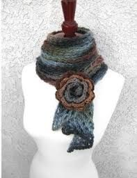 Image result for keyhole crochet scarf