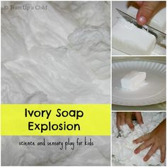Glowing Clean Mud - Ivory Soap Explosion with a Twist ~ Learn Play Imagine