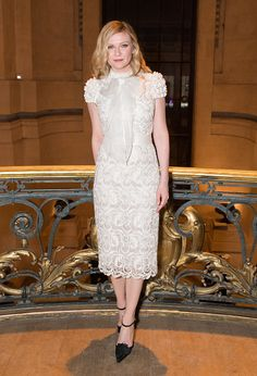 Kirsten Dunst attends the RalphRusso Haute Couture Spring Summer 2017 show as part of Paris Fashion Week on January 23 2017 in Paris France