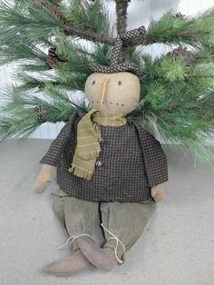 Snowman Bob Primitive Snowmen, Primitive Christmas, Snowman, Bob, Reusable Tote Bags, Craft Ideas, Homemade, Seasons, Dolls