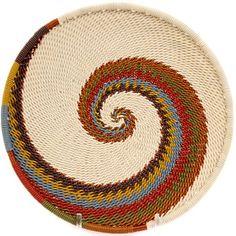 African Basket - Zulu Wire - Shallow Plate #42208
