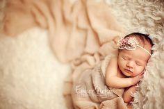 dainty baby headband...vintage inspired headband...baby girl..newborn..photography props..Vintage Pink Rose Headband