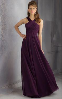Natural Bridesmaid Dresses, Chiffon Floor-length Dresses, A-line Floor-length Sleeveless stunning Bridesmaid Dresses