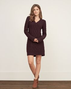 Womens Cable Sweater Dress   Womens Dresses & Rompers   Abercrombie.com