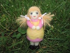 Goldy Locks Felted Doll Figure by LittleElfsToyshop on Etsy.