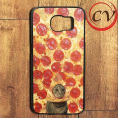 Pizza Cat Cute Samsung Galaxy S6 Edge Plus Case