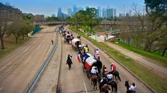 Houston trail ride to the Houston Rodeo