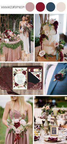 Love the boutonnière on the groom with maroon flower and navy berries!