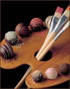 Chocolate art love this