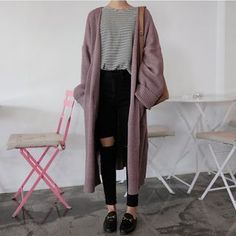 Buy monroll Open-Front Cardigan Coat at YesStyle.com! Quality products at remarkable prices. FREE WORLDWIDE SHIPPING on orders over US$ 35.