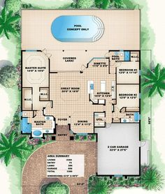 Florida Style House Plans 1786 Square Foot Home 1