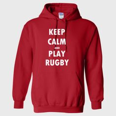 Keep Calm And Play Rugby - Heavy Blend™ Hooded Sweatshirt