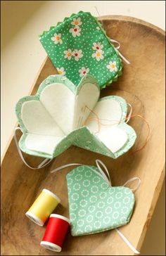 Sew cute! Folding needle keeper.