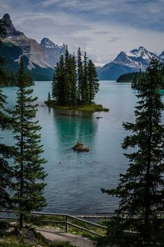 Lake view mountains nature peace scenery calm wild canada island forrest spirit Wilderness | HoHo Pics