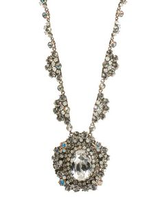 Sorrelli Crystal Antique Style Necklace in White Bridal by Sorrelli - $182.50 (http://www.sorrelli.com/products/NBN52ASWBR)