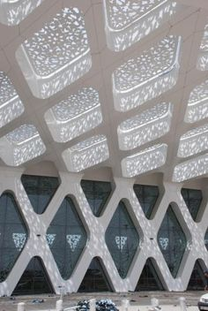 Marrakesh-Menara Airport in Marrakesh, Morocco, by Architecture. Architecture Images, Islamic Architecture, Architecture Details, Interior Architecture, Islamic World, Islamic Art, Roof Design, Ceiling Design, Motifs Islamiques