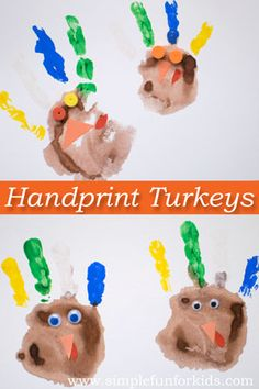More Turkey Handprints - Simple Fun for Kids