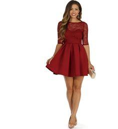 Burgundy It s Love Skater Dress at WindsorStore Windsor Dresses Homecoming 1302fe9e7