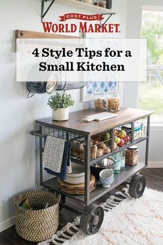 Small kitchen? Emily Burmeister of Our House Now a Home shares 4 kitchen makeover tips to add more functionality and style to your small kitchen space. #WeKnowSmall