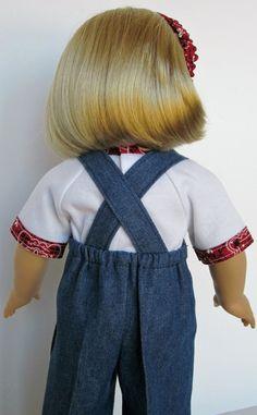 18 inch American Girl Doll Clothes Cowboy by SewMyGoodnessShop