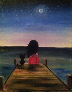 Check out Kitty and Me at Woody's Taphouse - Ave South Trail - Paint Nite Cute Cartoon Pictures, Cartoon Pics, Cartoon Art, Cute Disney Wallpaper, Cute Cartoon Wallpapers, Indian Art Paintings, Anime Art Girl, Cat Art, Cute Drawings