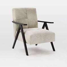 Retro Cowhide Chair - Gray #westelm