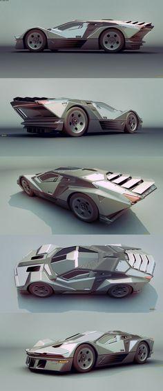 Interesante y atrevido diseño de un coche sin ninguna linea curva.