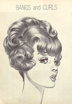 HairDo from Modern Beauty Shop Retro Hairstyles, Wedding Hairstyles, Curly Hairstyles, Vintage Beauty, Vintage Art, Vintage Makeup, 1960s Hair, Beehive Hair, Hair Reference