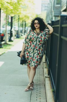 "I freaking love everything about Gabifresh. Everything. ""My body-hugging ensembles seem to be the most popular, but I love a good shift dress--the more potato-sacky, the better. I know they're not the most ""flattering"" or ""slimming"" items, but I couldn't care less. I think they're super chic and effortlessly stylish; I've been wearing this floral one from ASOS non-stop since I got it. So easy to throw on and go, and the autumnal colors make it the perfect transitional piece."""