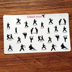 Hey, I found this really awesome Etsy listing at https://www.etsy.com/listing/248404420/131-martial-arts-planner-stickers