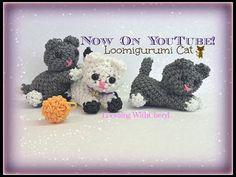 Rainbow Loom Kitty Cat Loomigurumi Amigurumi Hook Only Лумигуруми - YouTube