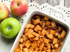 Simple Baked Apples--the healthy side dish your whole family will LOVE