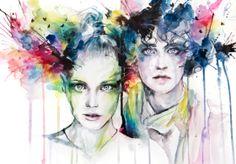 Very nice watercolor portrait by Maryam Taheri
