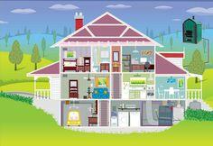 Cutaway house