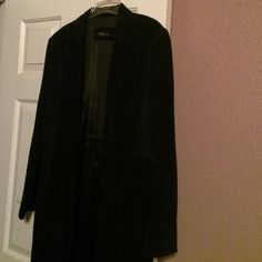 100 % Leather (Suede) duster 100% Leather (Suede) duster with side slits Valerie Stevens Jackets & Coats Trench Coats