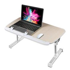 Portable Standing Laptop Bed Tray Table Excellent In Cushion Effect Nearpow Adjustable Laptop Bed Stand