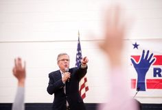 Jeb Bush at a town-hall-style meeting in Reno, Nev., on Wednesday. His brother created ISIS ya know.