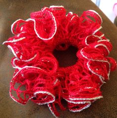 Red Hot Ruffle Sashay Scrunchie on Etsy, $2.50