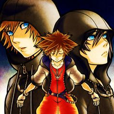 Roxas, Sora, Xion... Believe it or not, they're all the same person. Roxas and Xion are just bits and pieces of Sora's heart, the ones that were taken away from him, and they eventually returned to him...