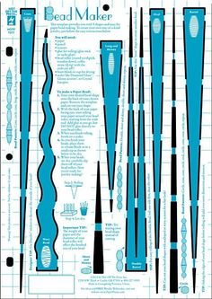 Paper Bead Making Template