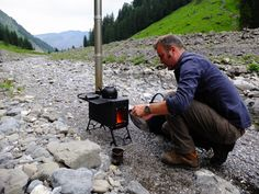 Portable Stove: If Campfire Just Isn't Enough – Gear Junkie Portable Camping Stove, Canoe Camping, Portable Heater, Camping Life, Camping Hacks, Camping Ideas, Tragbarer Herd, Wood Stove Installation, Campfire Stories